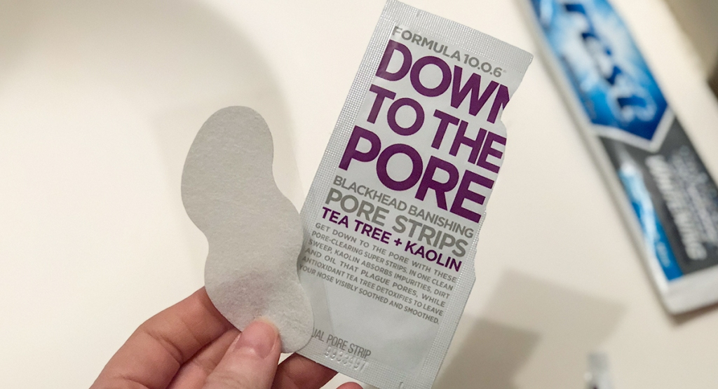 down to the pore blackhead strips packaging and product hip2save