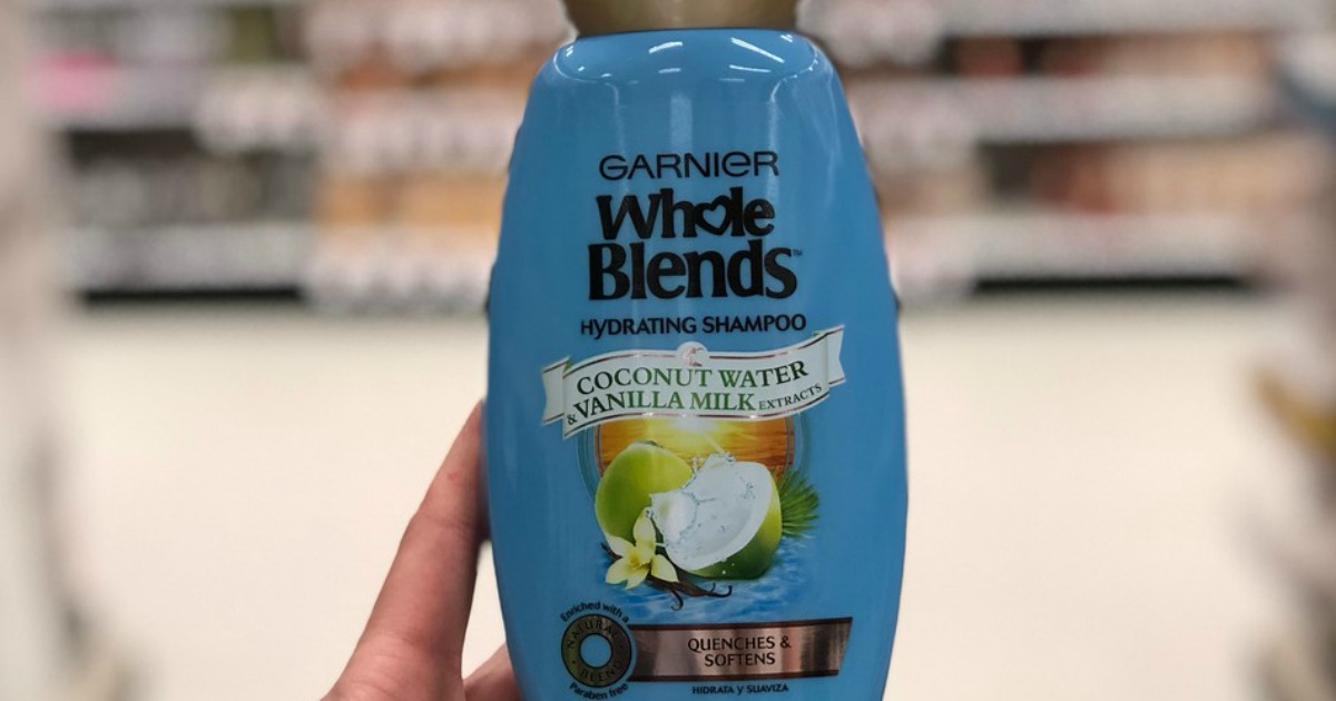 graphic about Garnier Whole Blends Printable Coupon called Garnier Comprehensive Blends Shampoo Conditioner Merely 50¢ Each and every at