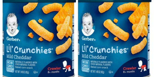 Amazon: SIX Gerber Lil' Crunchies Canisters Just $8.82 Shipped + More