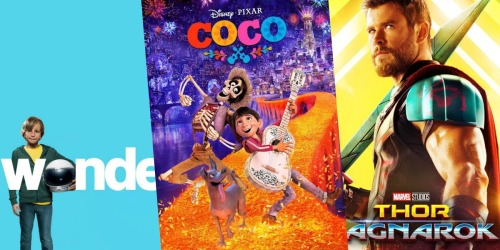 99¢ Movie Rentals on Google Play (Coco, Thor: Ragnorak, Wonder + More)