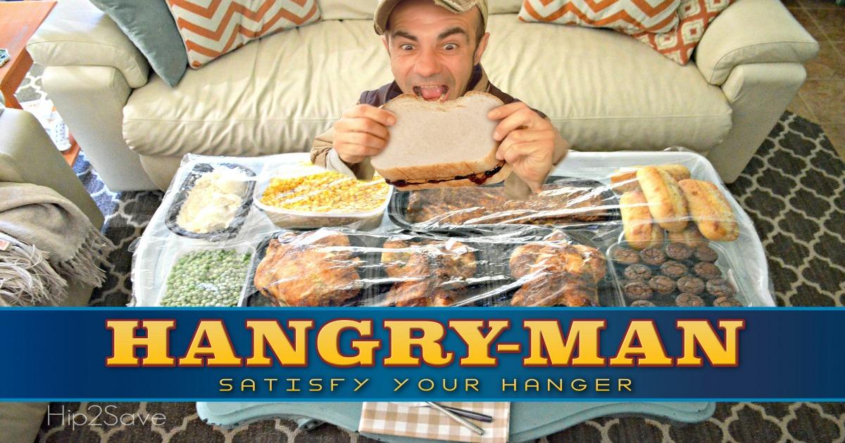 hangry man meal being enjoyed hip2save