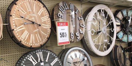 50% Off Wall Clocks at Hobby Lobby Including Farmhouse Styles