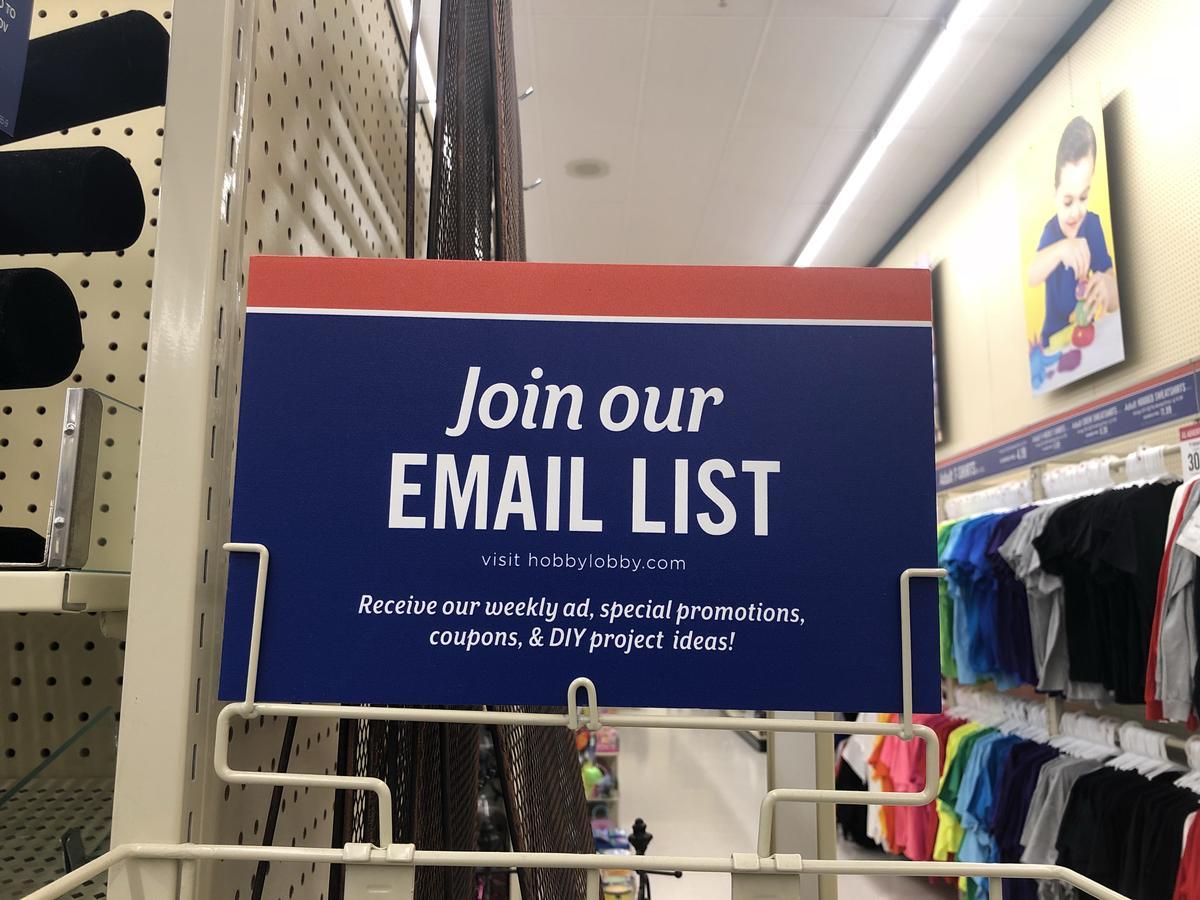 Hobby Lobby Email List