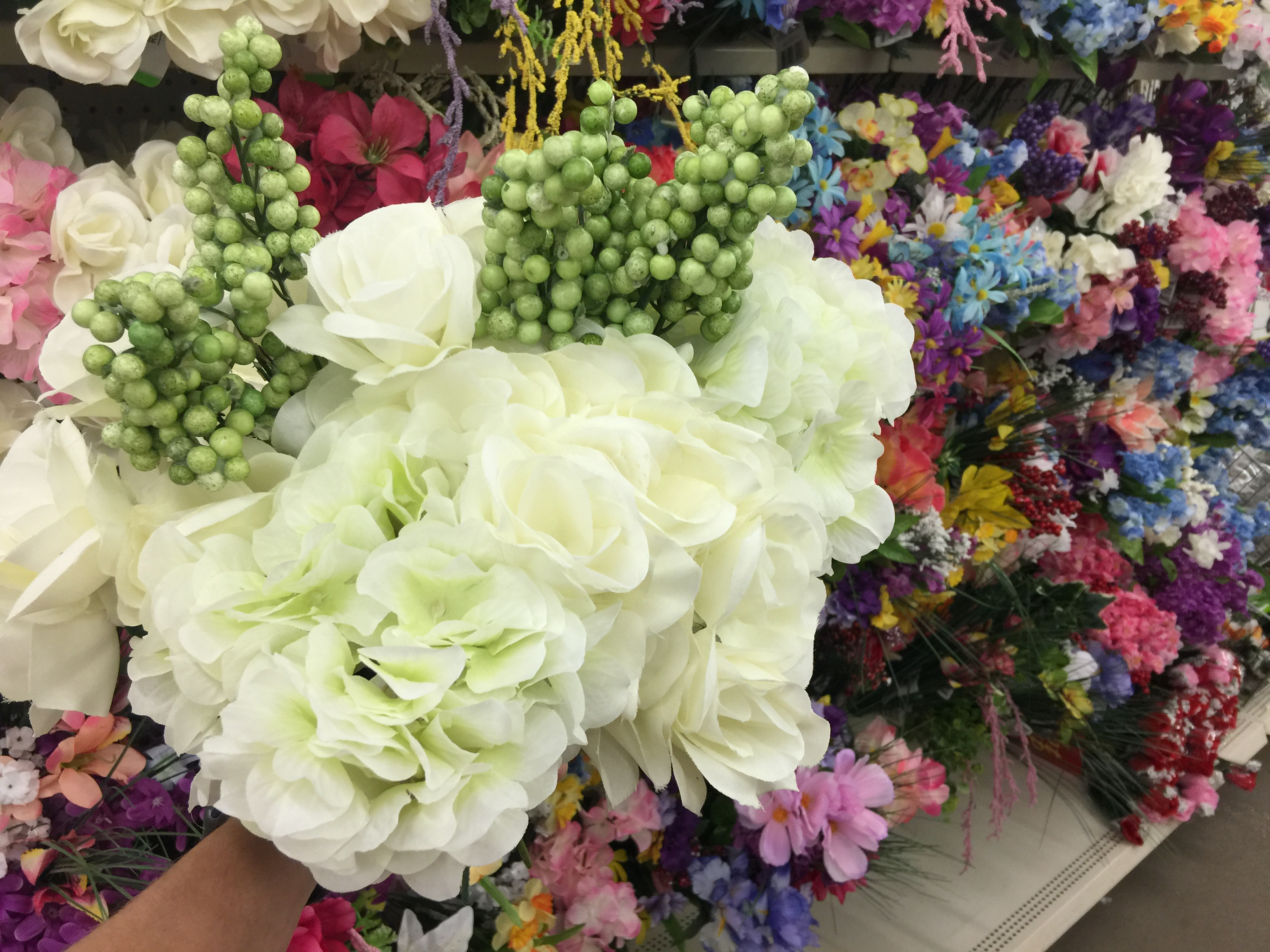 artificial flowers at dollar tree
