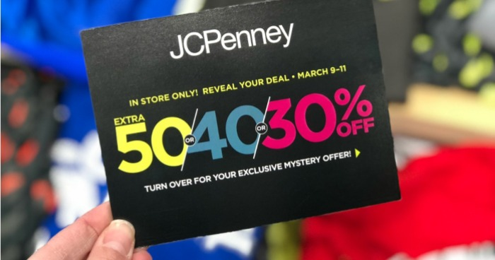 826c1915e305 JCPenney Mystery Coupon Giveaway  Up To 50% Off Entire Purchase ...