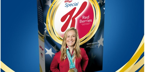 FREE Kellogg's Corn Flakes Gold Medal Jamie Anderson Edition Cereal Box