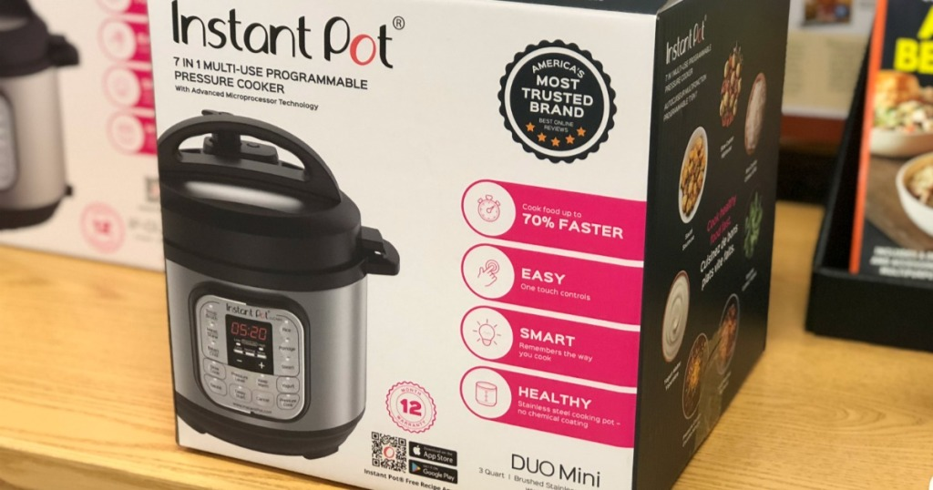 instant pot box on display in store