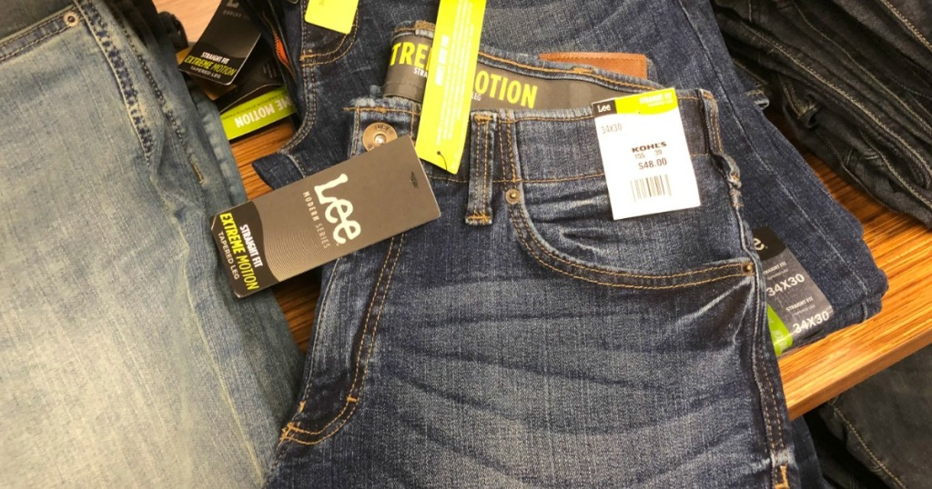 d29723f8 Hop on over to Kohls.com where select Men's Lee Modern Series Jeans are on  sale for as low as $24 (regularly $48). Note that only select sizes and  styles ...