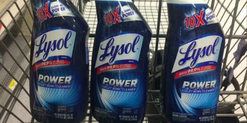 2 Lysol Power Toilet Bowl Cleaners Only $3.59 Shipped on Amazon | Just $1.80 Each