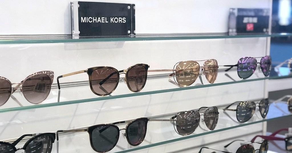 Michael Kors sunglasses in store on shelf