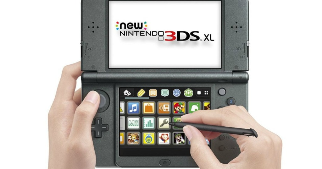 person using Nintendo 3DS XL