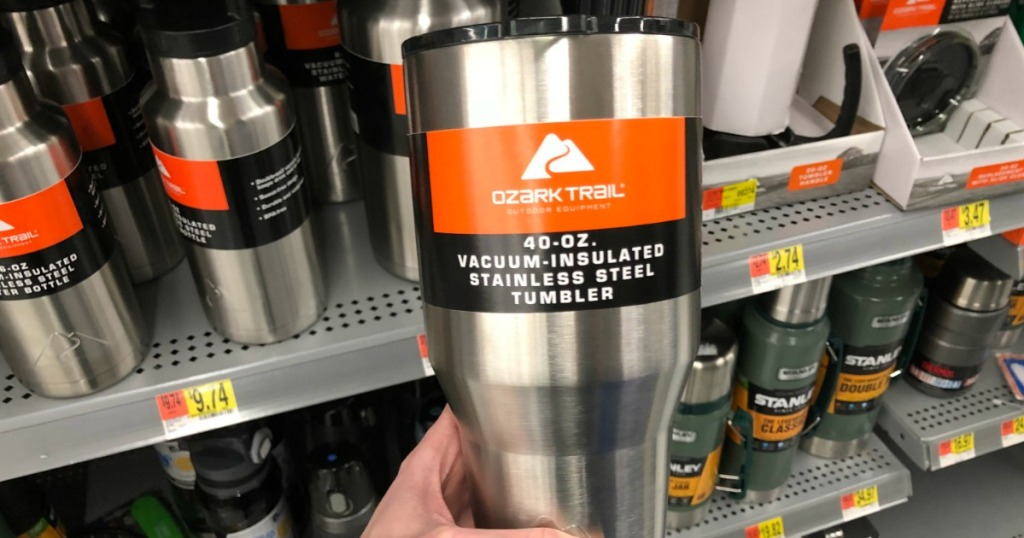 9873dd4fede Hop on over to Walmart.com where you can score this Ozark Trail 40oz Vacuum  Insulated Stainless Steel Tumbler for only $6.02 (regularly $12.88).