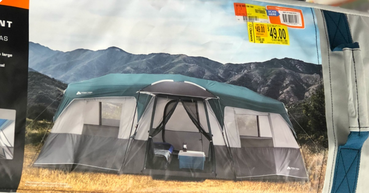 This tent sleeps 12 people and can be set up in under 2 minutes. It has extra large windows and even a shade porch. Plus there are room iders so you can ... & Walmart Clearance Find: Ozark Trail Instant Cabin Tent ONLY $49 ...