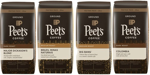 Peet's Ground Coffee 20oz Bag Just $8.99 Shipped + More