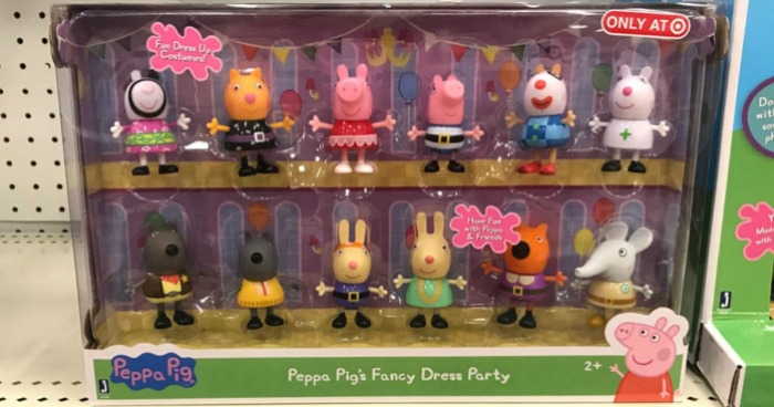 33ae535e0 Head on over to Target.com where you can score the Peppa Pig Fancy Dress  Party Figures 12-Pack for only $15 (regularly $29.99). You can even break  the set ...