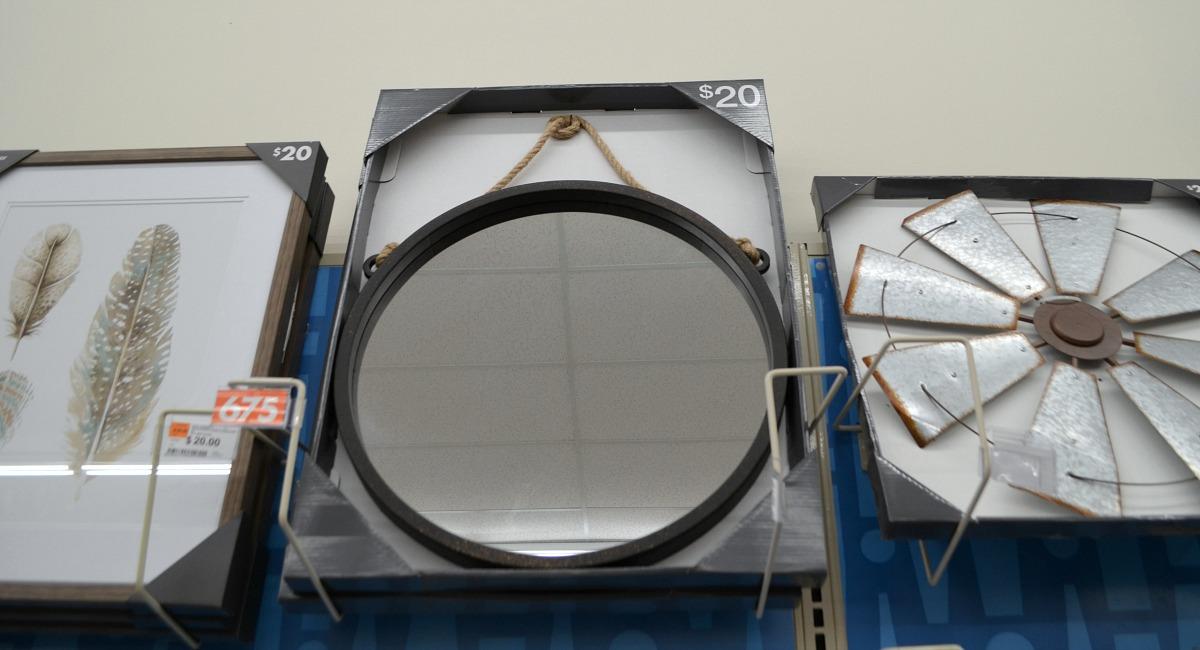 big lots rope hanging matte black mirror