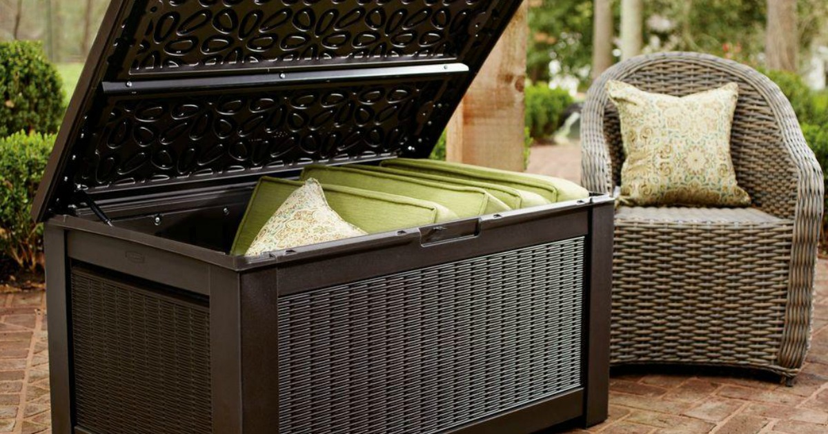 Rubbermaid 93 Gallon Storage Bench Deck Box Only 90 Shipped Regularly 167 Amp More Hip2save