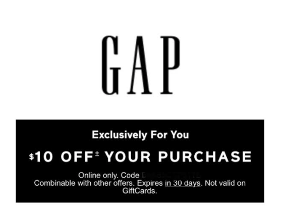 gap possible 10 off coupon check your inbox hip2save