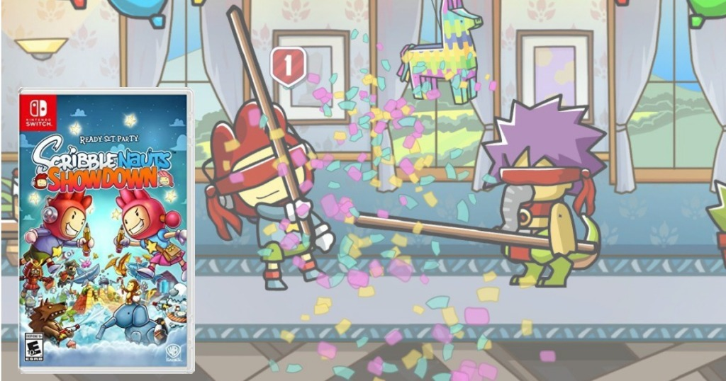 scribblenauts showdown nintendo switch video game and screen shot of video game