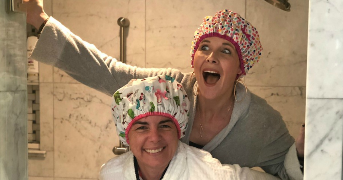 dry shampoo hair product by bumble & bumble - Collin and Bryn goofing around
