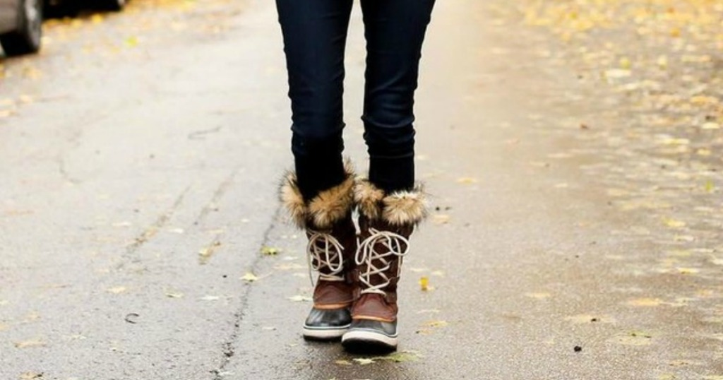 Sorel Joan Of Arctic Boots on Woman in street
