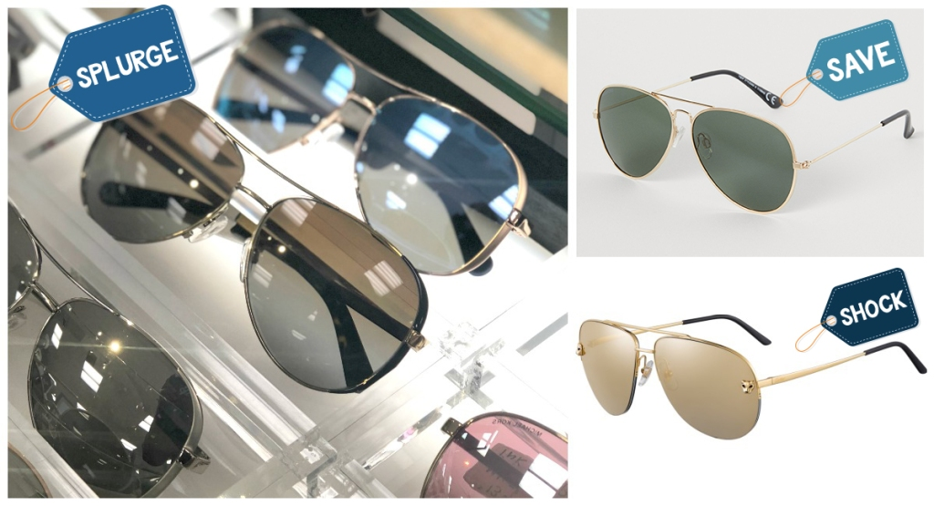 assortment of aviators and various price points