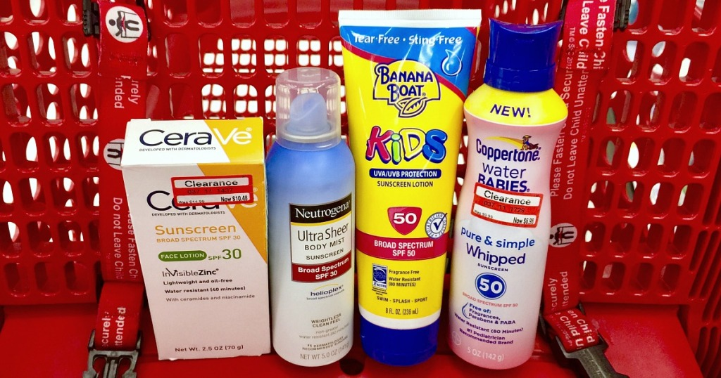 pick up sunscreen when on sale during april hip2save