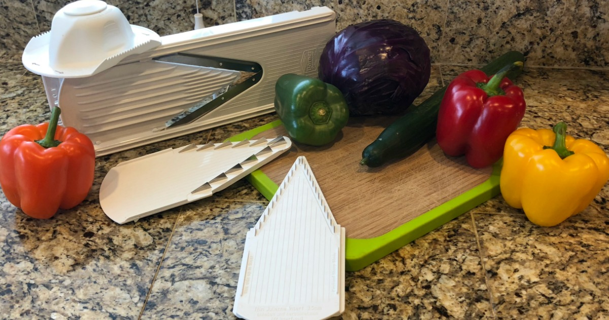 Food prep in the kitchen becomes simple with this mandoline.