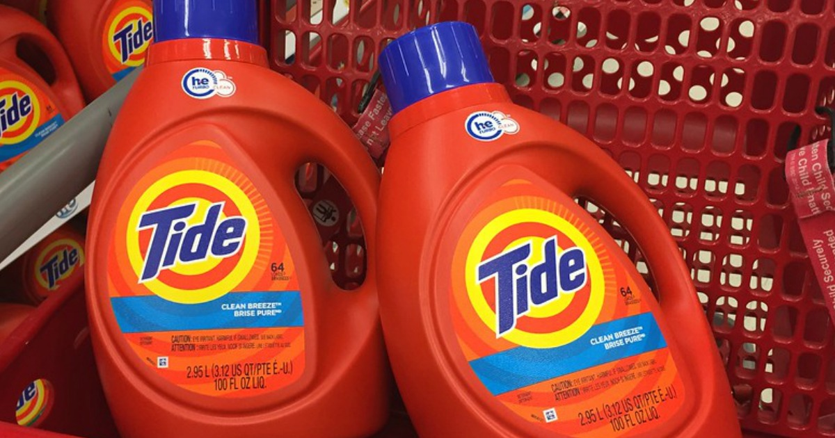 Tide Laundry Detergent in cart at Target