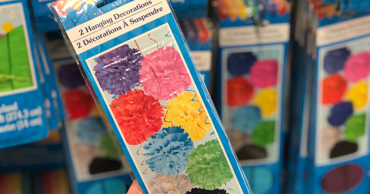 dollar tree hanging paper decorations
