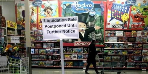 ToysRUs & BabiesRUs Liquidation Sales Postponed