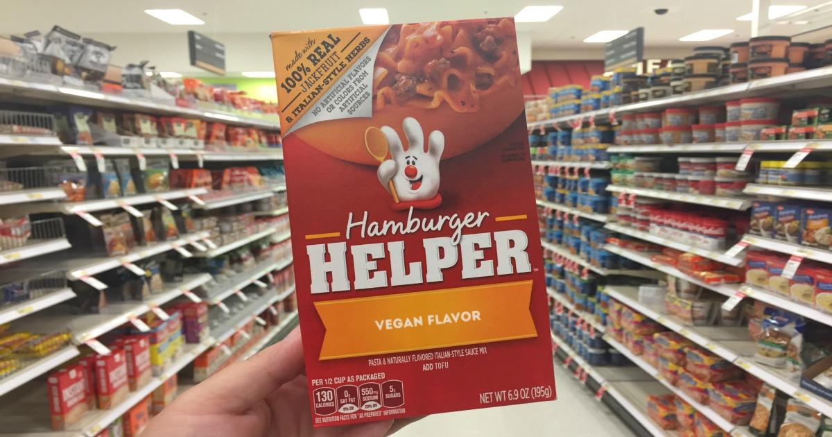 vegan hamburger helper new flavor hip2save