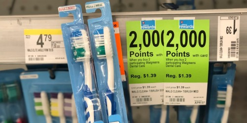 Walgreens Brand Toothbrushes As Low As 19¢ Each After Points