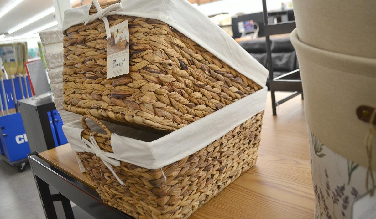 big lots wicker baskets