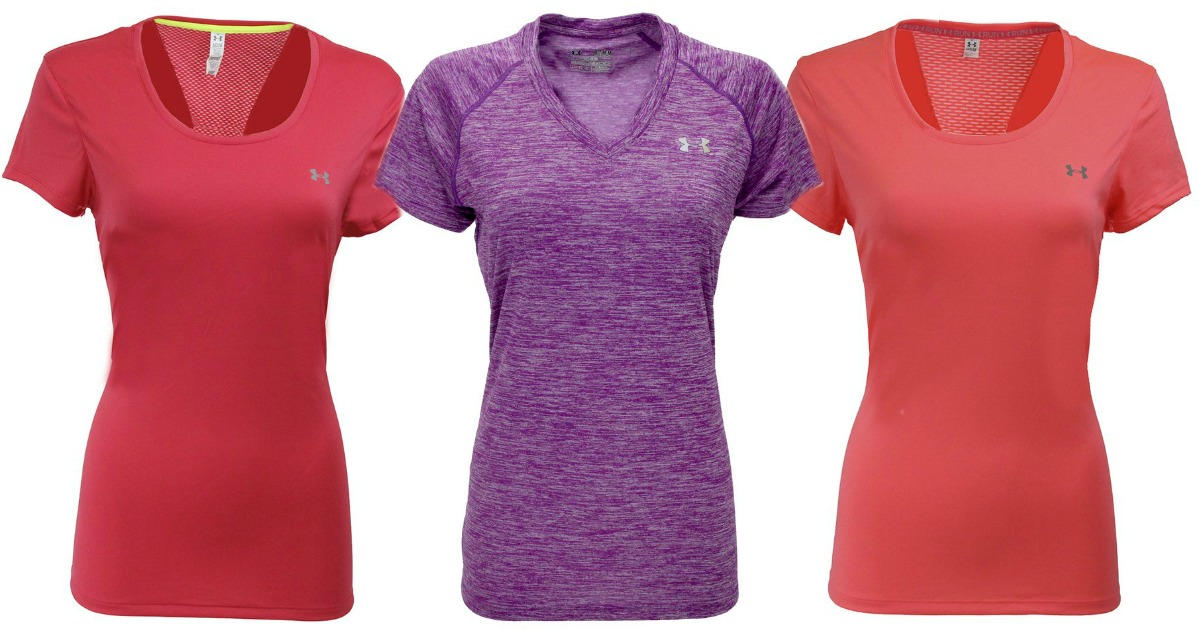 Women s Under Armour Twisted Tech V-Neck or Flyweight T-Shirt  19.99  (regularly  27.99 –  29.99) Use promo code HIP14 Final cost  14 shipped! 2a590fc511