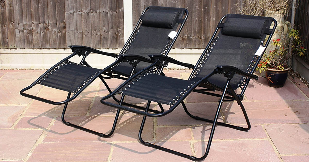 TWO Zero Gravity Lounge Chairs Only $39.99 Shipped