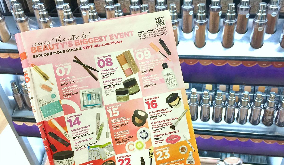 ulta sale 21 days of beauty flyer