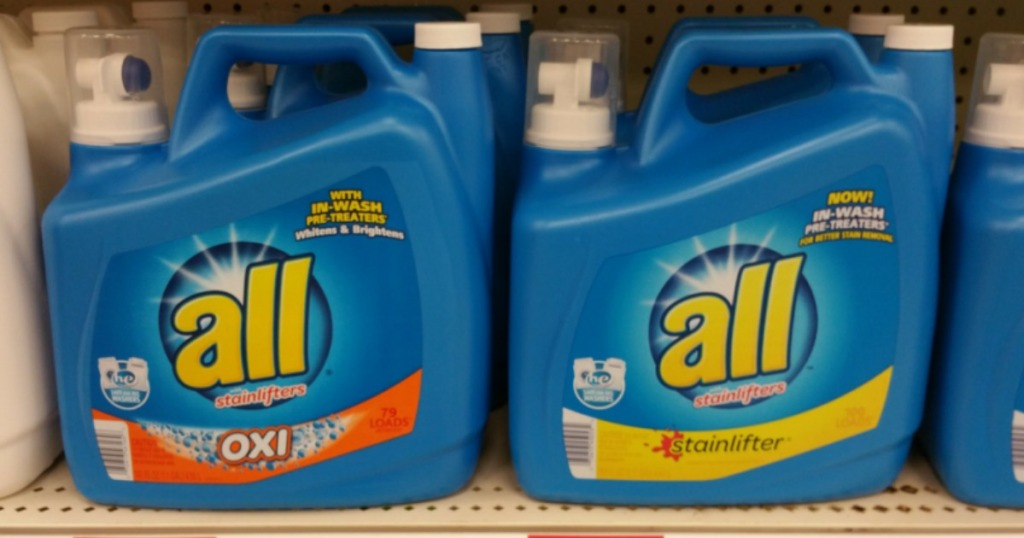 two big containers of all detergent