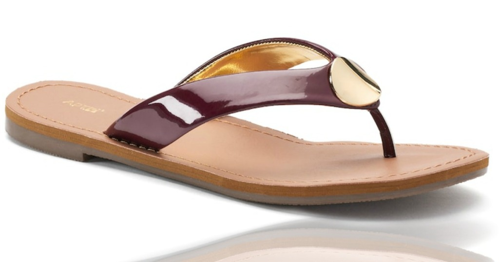 830f7b52f252 Hop on over to Kohls.com where they have these cute Apt. 9 Luckily Women   Sandals on sale for just  9.99 (regularly  24.99)