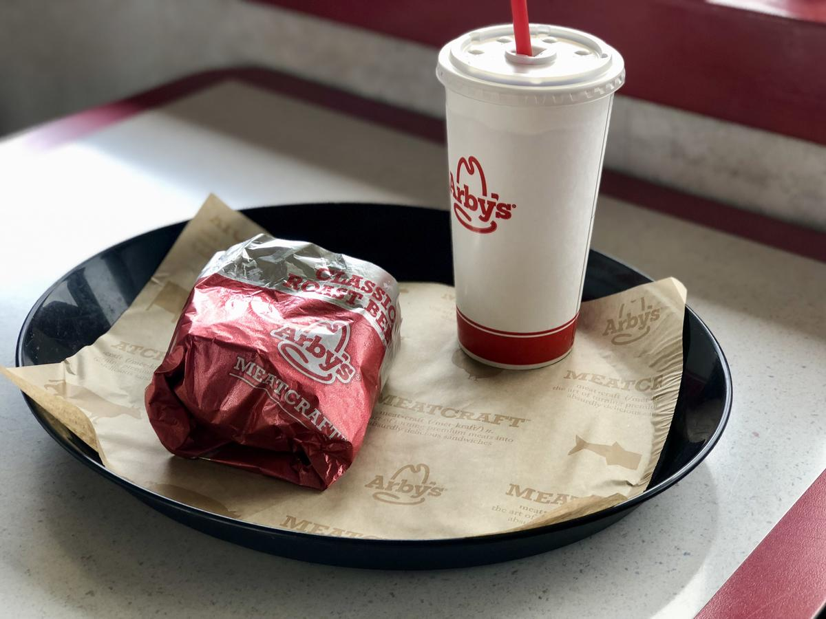 Arby's is one of the chains we enjoyed for our less than $7 lunch.