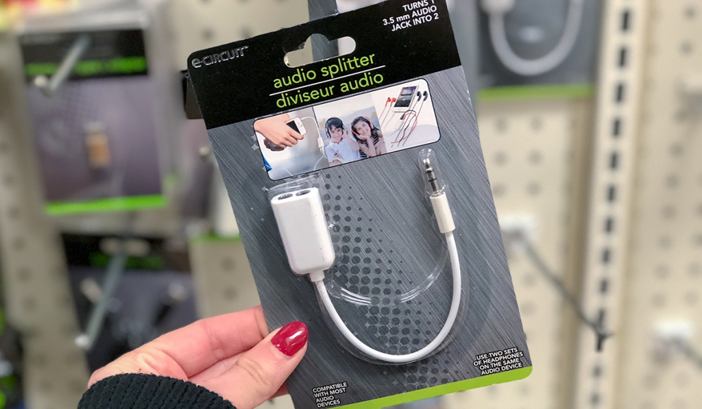 dollar store vacation tips audio splitter for shared devices hip2save