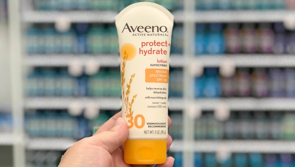aveeno protect and hydrate spf 30 sunscreen hip2save