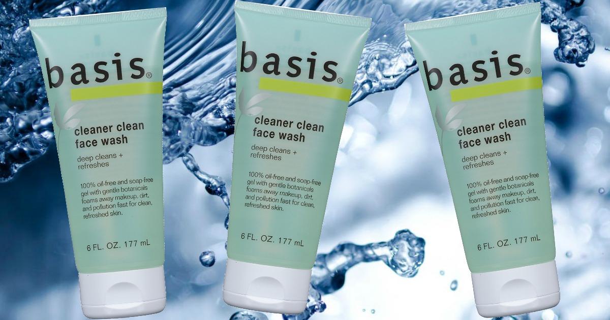 3 bottles of basis face wash