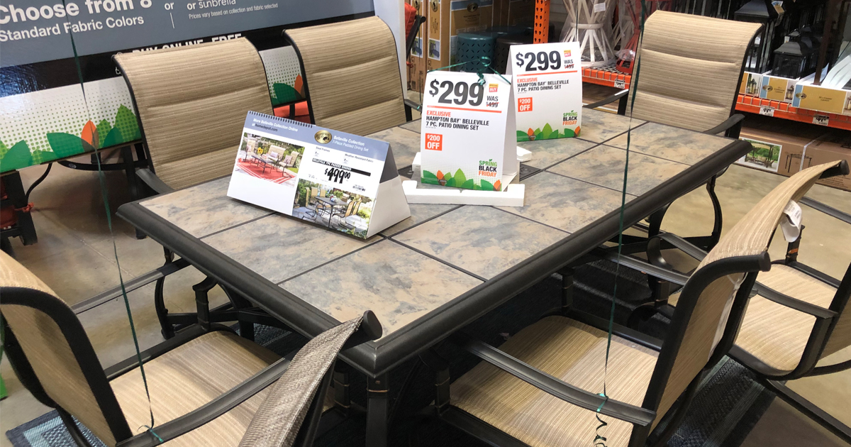 Home Depot 7-Piece Sling Patio Set as Low as Only $299 (Regularly $499) - Hip2Save & Home Depot: 7-Piece Sling Patio Set as Low as Only $299 (Regularly ...