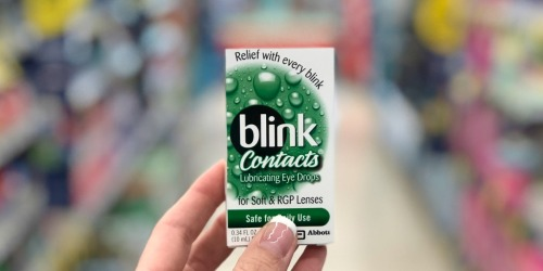 Blink Contacts Eye Drops Just $1.29 at Walgreens (Regularly $7+)