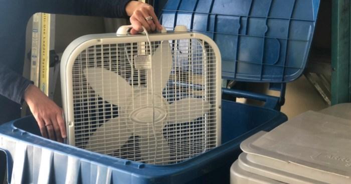 noise machine lectrofan review – box fan in trash can