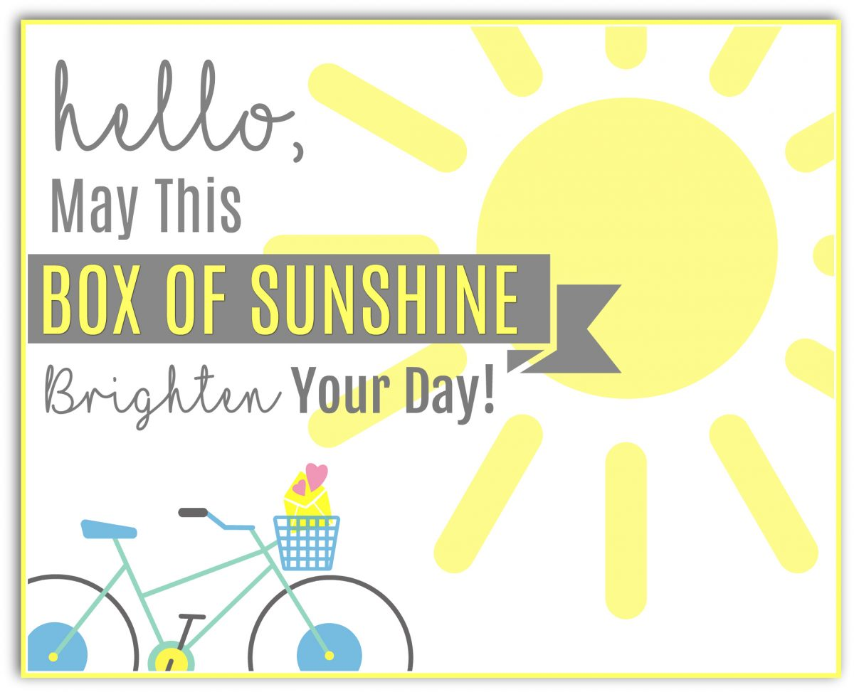 picture regarding Basket of Sunshine Printable called Brighten Someones Working day with a Box of Sun - Hip2Conserve