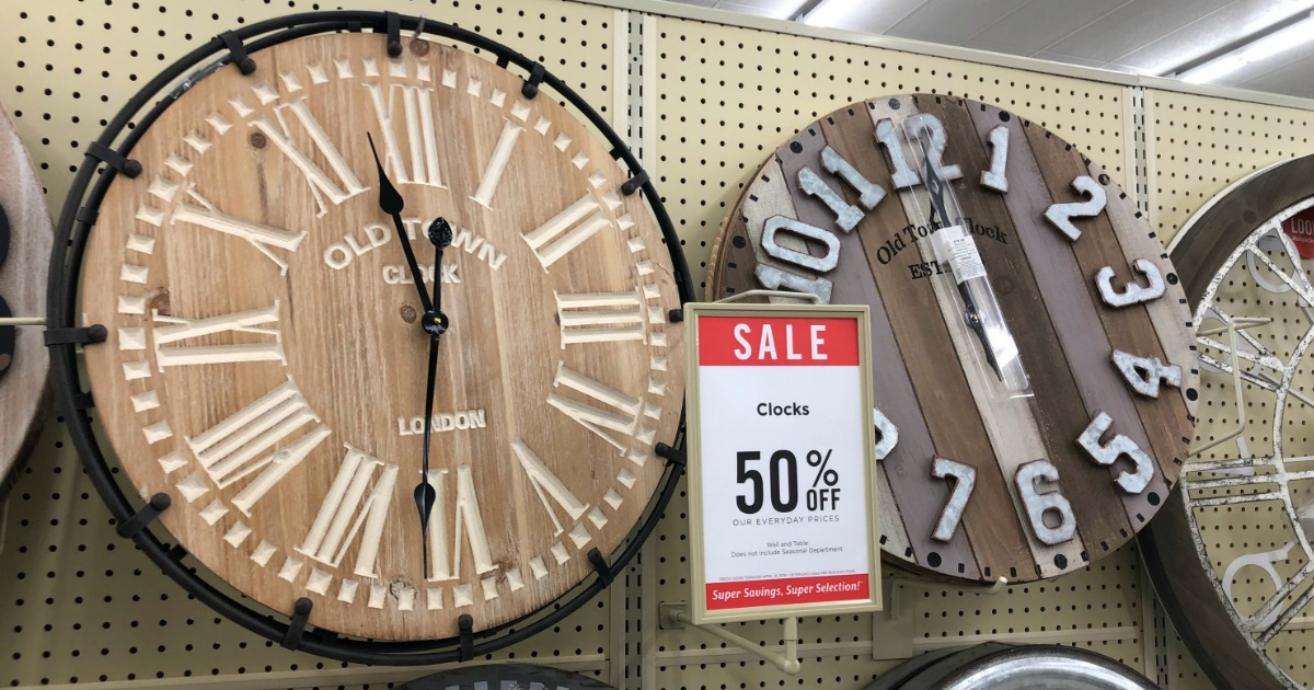 carved wood wall clock hobby lobby store