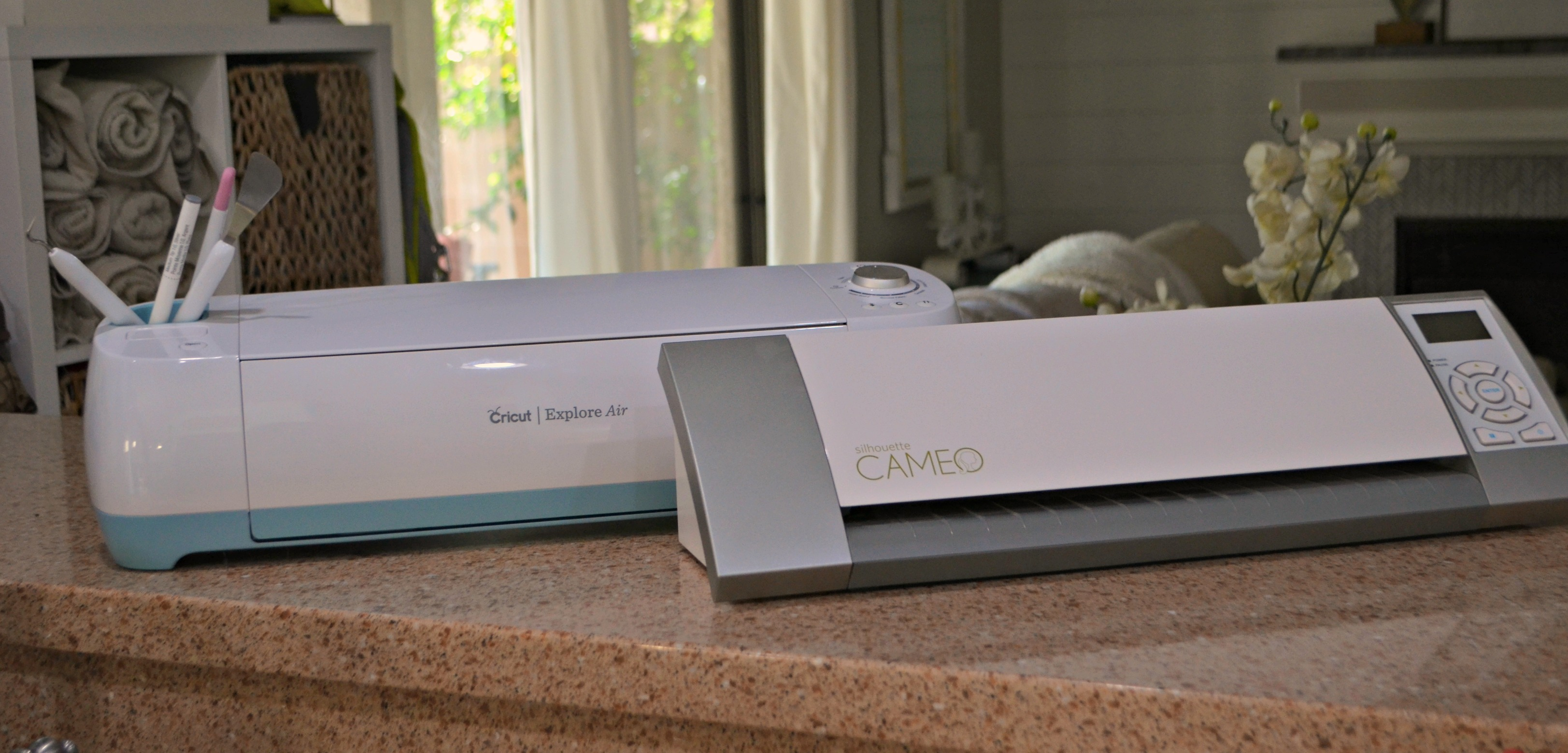 Cricut and Silhouette are both about the size of a large, compact printer.