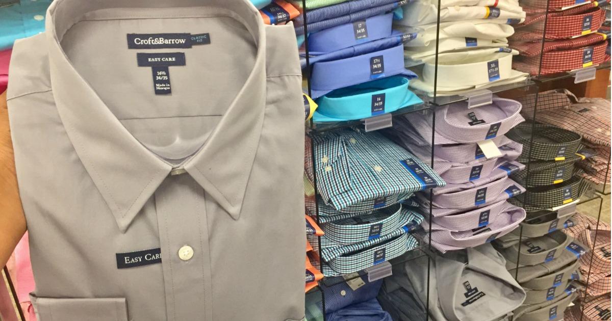 88a9c0c50 Kohl's: SIX Men's Croft & Barrow Dress Shirts as Low as $29.96 (Only $4.99  Each)